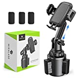 Miracase Cup Holder Phone Mount, Upgraded Long Neck Never Shake Heavy Duty Cup Base Car Phone Holder Cradle Car Mount for iPhone 11 Pro/XR/XS Max/X/8/7 Plus/6s/Samsung S10/Note 9/S8 Plus/S7,GPS etc