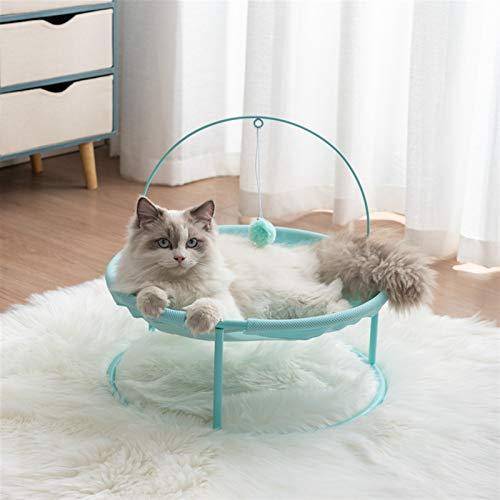 Jgzwlkj Haustierbett Cat's Nest Four Seasons Universal Cradle Stuhl Katze Prinzessin Hundest Nest Hund Bett Netto Hund Katze Bett Cat Couch Pet Supplies (Color : Summer Green)
