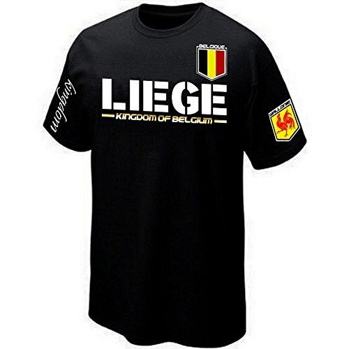 PRIMA ITALIA T-Shirt Liege WALLONIE Belgique - Kingdom of Belgium (M)
