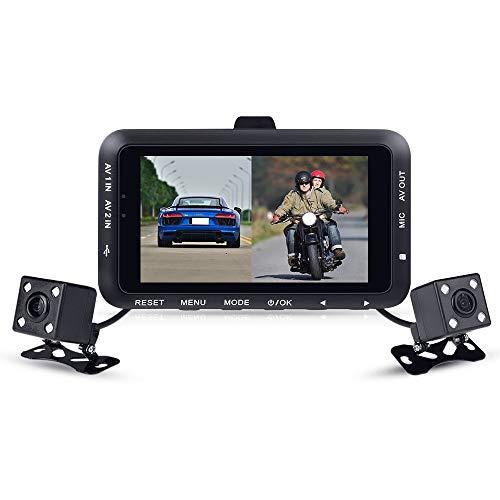 Cámara De Dashcam De La Motocicleta LCD De 3.0 Pulgadas, Dual 720p 140 ° Lente Impermeable De Gran Angular, Visión Nocturna, Grabación De Bucle, Expansión De Almacenamiento MAX 32GB, Para SportBike