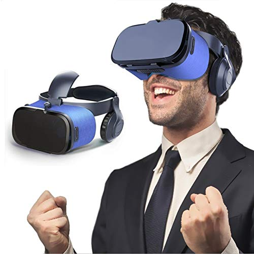 3D Virtual Reality Headset, 2019 New VR Goggle w/ Headphone & Remote for 3D Movie/Game, VR Glasses for iPhone 11 Pro XS Max XR X 8 7 6 S Plus Samsung Galaxy S10 E S9 S8 S7 Edge Note 10 + 9 8