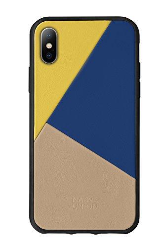 Native Union CLIC Marquetry Hülle - Echtem Italienischem Nappaleder für iPhone X (Canary)