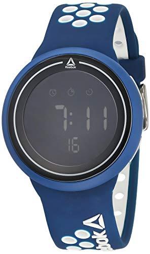 REEBOK Reloj para hombre Durante azul, caja de 43,5 mm, esfera negra,...