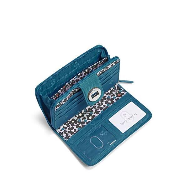 Vera Bradley Women's Microfiber Turnlock Wallet with RFID Protection