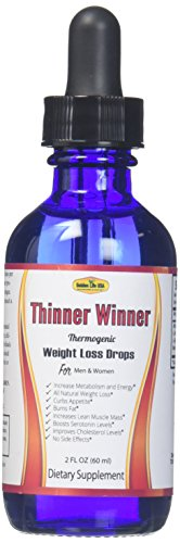 Thinner Winner Thermogenic Weight Loss Diet Drops Supplement for Women & Men, Best Thermogenic Fat Burner Diet Product, 1 Appetite Control, Get Slim or Money Back Guarantee!