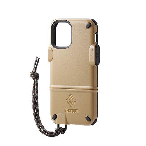エレコム iPhone 12 mini ケース ハイブリッド NESTOUT ブラウン PM-A20ANEST1BR