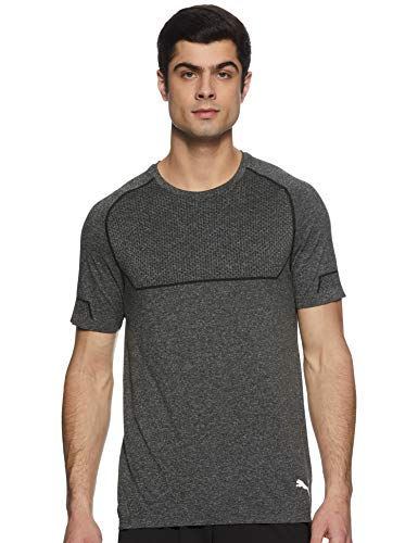 PUMA Herren Energy Seamless Tee T Shirt, Black Heather, L