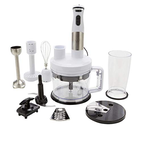 Wolfgang Puck 7-in-1 Immersion Blender with 12-Cup Food Processor Model 649-012