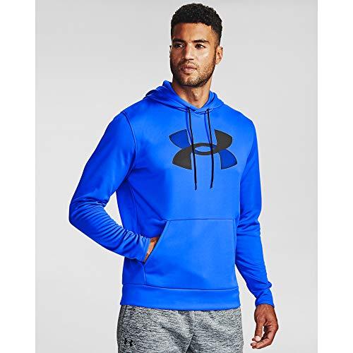Under Armour Herren Armour Fleece Big Logo Hoodie, Herren, Kapuzenpullover, Armour Fleece Big Logo Hoodie, Emotion Blue (401)/Schwarz, Large