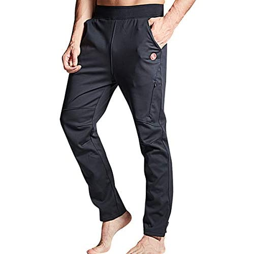 Souke Sports Men's Winter Cycling Trousers Outdoor Sport Pants Windproof Hiking Trousers with Zip Pockets for Fitness…