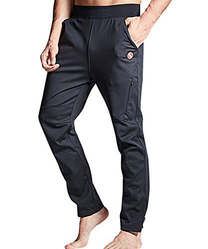Souke Sports - Pantaloni da Ciclismo Lunghi Invernali Uomo Antivento Termici Impermeabile per Outdoor Sports Campeggio Arrampicata Corsa Sci