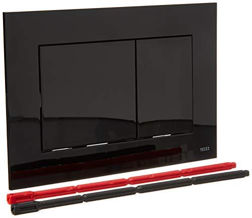 TECE now Betätigungsplatte für WC (Farbe schwarz, Zweimengentechnik, bedienbar von oben und vorne) 9240403