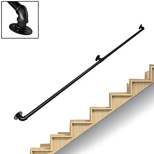 Pasamanos de escalera de hierro forjado para interiores y exteriores , pasillo del ático, poste de apoyo para barandillas de escaleras para niños mayores, reposabrazos antideslizante ,20ft/600cm