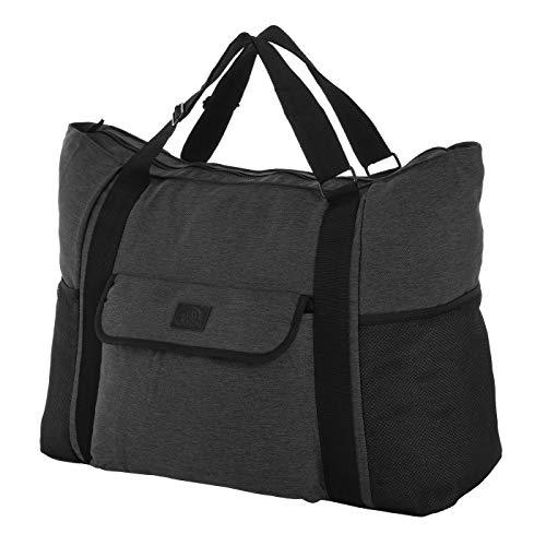 Rada Sport und Reisetasche für Gym Fitness Schwimmbad Damen & Herren oder als Reisetasche Urlaubstasche sehr leicht, wasserabweisend, robust und groß (53 x 40 x 30cm) (grau schwarz)