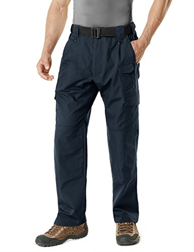 CQR Men's Tactical Pants Lightweight EDC Assault Cargo, Duratex Mag Pocket(tlp105) - Navy, 20W x 20L