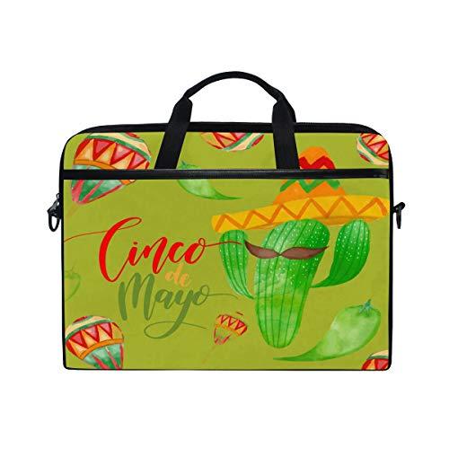 Cute Cacti Green Laptop Shoulder Bag Notebook Computer Handbag Sleeve Table Carrying Case Messenger Bags Fits 13-15.4 in for Men Women Boys Girls