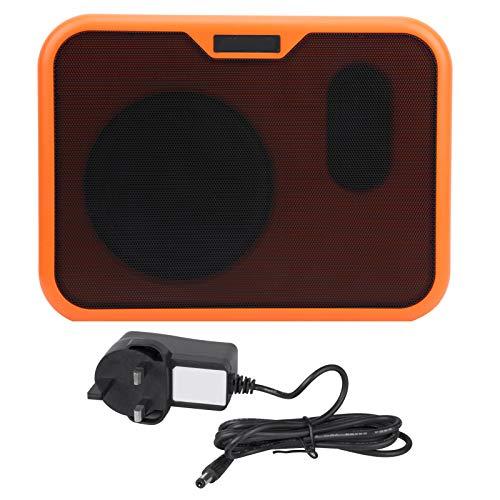 Altavoz para guitarra eléctrica, mini altavoz portátil multifuncional Caja de sonido Amplificador acústico de doble canal para guitarra de madera/folk como caja de sonido(Enchufe europeo)
