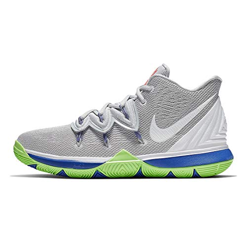 Price comparison product image Nike Kids' Grade School Kyrie 5 Basketball Shoes (6.5,  Grey / Lime)