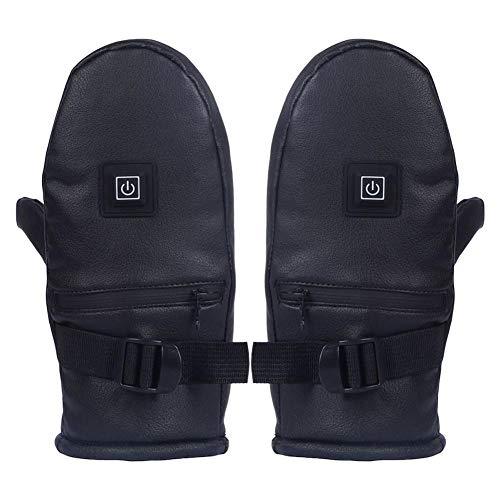 ZXLIFE@@@ accu-elektrische handschoenen, verwarmde handschoenen, wind- en waterdicht, drie temperatuurniveaus, voor fietsen/motorrijden/vissen/skiën/sneeuwruimten/wandelen