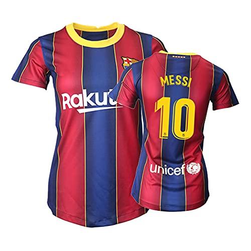 BASTB Messi - Camiseta para mujer, talla S a XXL, #10 Rojo, S-M