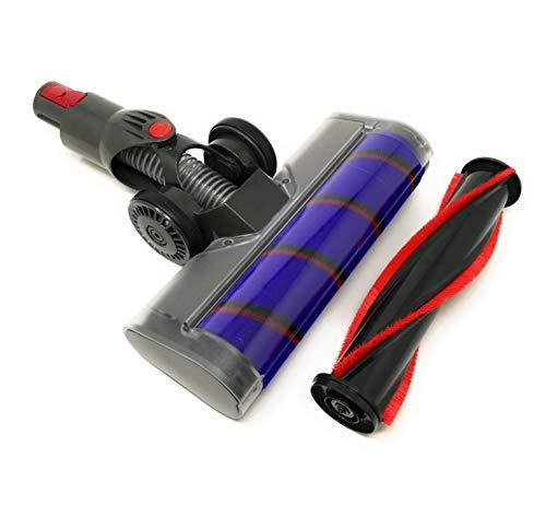 Navi+ Turbo Brush compatible con Dyson V7, V8, V10, V11 (Turbo Brush con rodillo suave y cepillo)