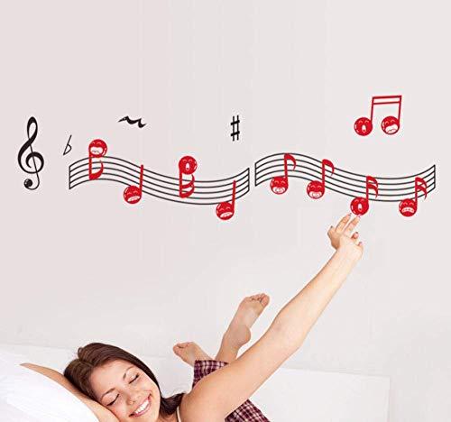 Lustige Facebook Musik Blatt Wandaufkleber Persönlichkeit Mode dekorative Wandkunst Aufkleber Schlafzimmer Tapete 41 * 140