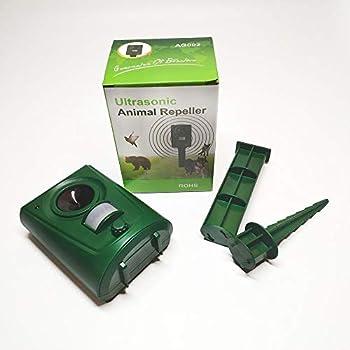 CAR SHUN 2 Pack Imperméable À l'eau Ultrasons Repoussoir pour Chats Dissuasif Animal Effaroucheur Repousse Renard Pigeon Chien Rongeur pour Jardin en Plein Air