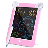 Kennifer LCD Writing Tablet, Kids 3D LED Luminous Magic Drawing Pad, 10 Inch LCD Handwriting Drawing Doodle Board, Erasable Sketching Notepad for Kids and Adults