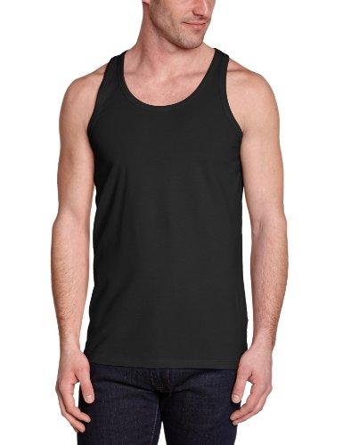Jack & Jones Basic Tank Top - Camiseta de tirantes con cuello redondo sin mangas para hombre, Negro (Black C-N10), Large