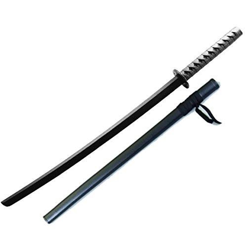 BAY® Set Angebot Katana mit Scheide SAYA aus Polypropylen Bokken Attrappe Training Samuraischwert Schwert Samurai schwarz aus TPR- Kunststoff 100 cm Trainingsschwert