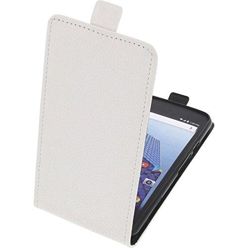 foto-kontor Tasche für Archos Access 50 4G Smartphone Flipstyle Schutz Hülle weiß