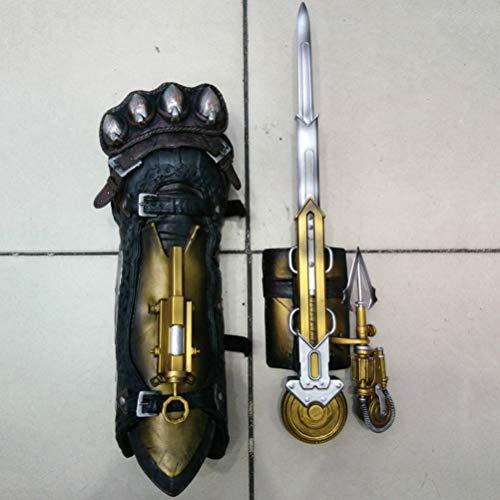 AWS Assassin's Creed Syndicate 1: 1 Hidden Blade Weapon Props Hero Braccialetto con frecce Manica Manica Spada Cosplay Guanti Modello. 43cm