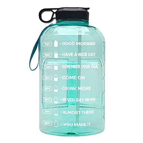 Xeroy 1 Galón De Botella De Agua con Mango De Transporte Y Marcador De Tiempo, Jarra De Agua De Fugas De Fugas De Plástico Libre De BPA para Deportes Al Aire Libre Camping Fitness
