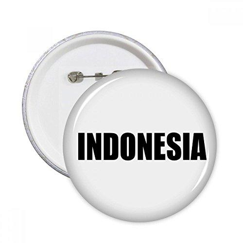 DIYthinker Indonesien Land Name Schwarz Runde Stifte Abzeichen-Knopf Kleidung Dekoration 5pcs Geschenk Mehrfarbig M