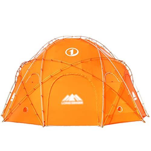 Tunnelzelte Zeltverdickung Erhöhen Zelt 10 Personen 20 Personen Riesenrundzelt Snow Mountain Camping Camp Riesenzelt Hochwertiges Aluminium-Konsolenzelt (Color : Orange, Size : 500 * 500 * 260cm)