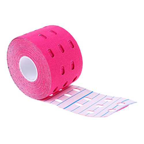 N\C One Roll 5CM X 5M Kinesiology Sports Strapping Tape Adhesivo Impermeable para Músculos, Espinillas, Rodilla Y Hombro - Rosado
