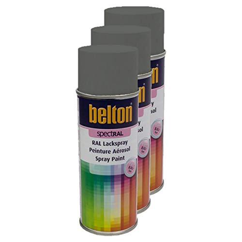 Kwasny 3X Hitcolor Lackspray Lack Spray Spraylack Anthrazitgrau Seidenglanz RAL 7016 400 Ml