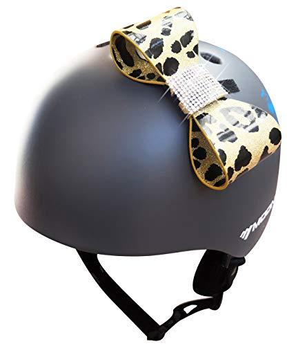 3T-SISTER Helmet Bow Handmade Motorcycle Helmet Bow Knot,Windshield Decoration,Helmet Accessories,for Bike Helmet Motocross Helmet Full Face Biker Helmet (Leopard)