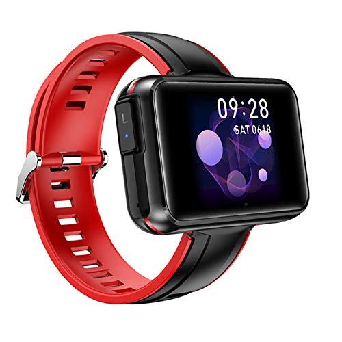 Relojes Pulsera Reloj Inteligente 2 En 1 Con Auriculares Inalámbricos Bluetooth TWS, Pulsera Inteligente Con Pantalla Táctil 1,4 ', Fitness Tracker Auriculares Combo Running Music Pulsera Watche,Rojo