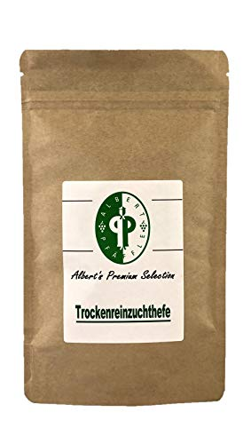 Albert's Premium Selection Trockenreinzuchthefe, VPE 10g für 50 Liter und 100g für 500 Liter (100) / Nachhaltige Verpackung