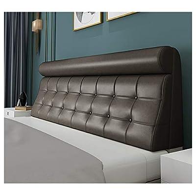 [Hermoso y cómodo]: El cojín de cabecera crea un espacio interior hermoso para su cama y dormitorio, proporcionando el cuello y cintura y soporte para la espalda al leer y ver la televisión.Es una almohada ergonómica muy cómodo. [Tipo de cama univers...
