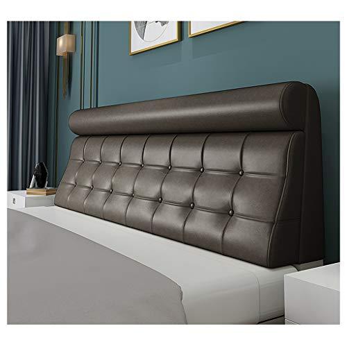 Lgan Cabezales De Cama Acolchado,Cabecero Tapizado Cubrecamas Estuche Blando Almohada Espalda Grande Cuero (Color : Black, Size : 150cm)