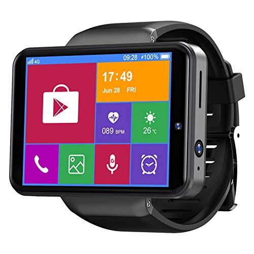 TICWRIS Max S 2,4 Zoll 3 GB + 32 GB Smart Watch Männer Frauen 4G Smartwatch für Android 7.1 mit 8MP Kamera 2000mAh Smart Watch GPS Fitness Armband (Schwarz) (schwarz)