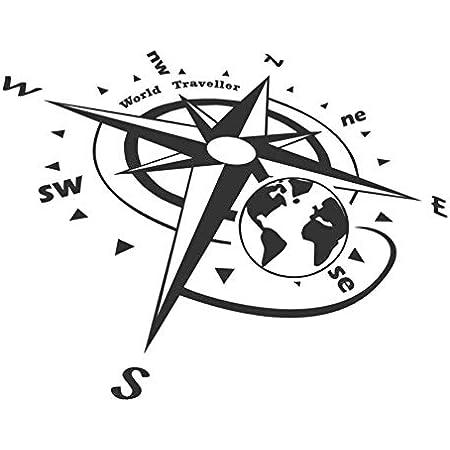 Generic Kompass Polarstern Aufkleber 20 Cm Oder 30 Cm Windrose Aufkleber Für Caravan Wohnmobil Wohnwagen Auto Oder Als Wand Tattoo 236 3 30cm Weiß Glanz Garten