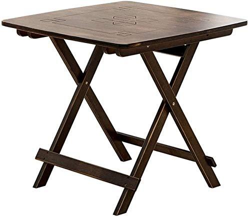 LYATW Outdoor Klapptisch Antike Folding quadratischer Tisch Tragbarer Klapptisch Esstisch Bambus Esstisch Freizeit Tisch (Color : 80cm)