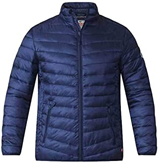 D555 Mens Bubble Jacket Duke Coat King Size Quilted Padded Bastian Winter Lined