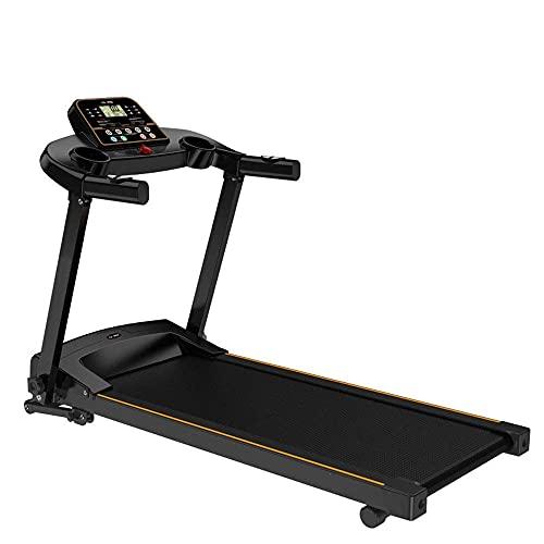 rueda de andar Cintas para correr, Cinta de correr eléctrica plegable, Gimnasio Home Ultra-Slight Smart Trademill Función de monitoreo de ritmo cardíaco, 0.8-12km / h, pendiente ajustable / Código de