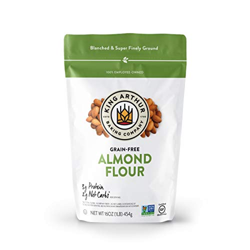 King Arthur, Almond Flour, Certified Gluten-Free, Non-GMO Project Verified, Certified Kosher, Finely Ground, 16 Ounces (Packaging May Vary)
