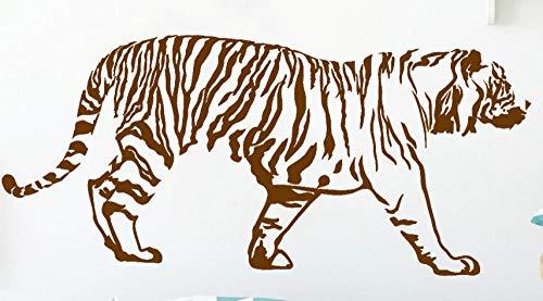 Axlgw Tijger Muurstickers Woonkamer Slaapbank Achtergrond Muurdecoratie Grote Kat Dier Vinyl Muurstickers Kinderen Slaapkamer Decoratie Grootte 57X26Cm