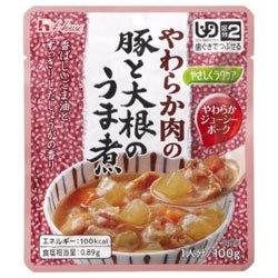 ハウス食品 やさしくラクケア やわらか肉の豚と大根のうま煮 100g×40個入×(2ケース)